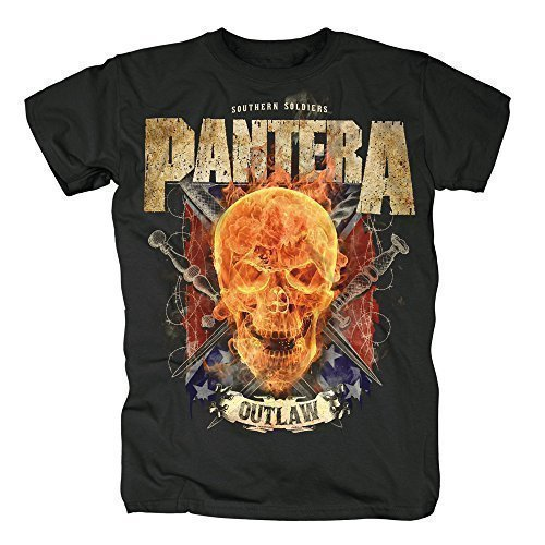 9787777564539: PANTERA - OUTLAW SKULL - T-SHIRT OFFICIEL HOMME - Noir, X-Large