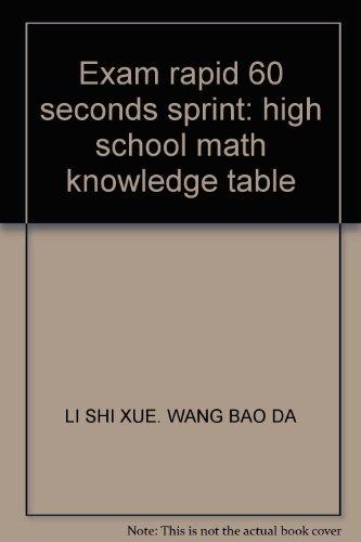 Exam rapid 60 seconds sprint: high school: LI SHI XUE.