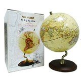 9787807048350: Globe (25cm antique wooden base matt dimensional relief)(Chinese Edition)