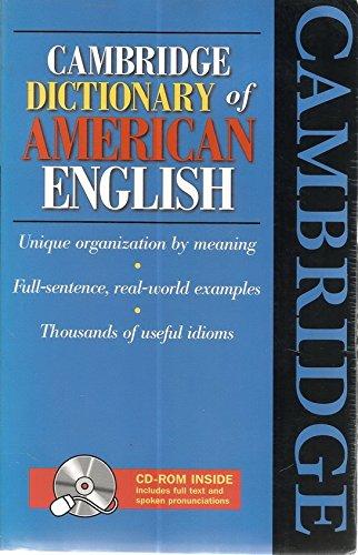 9787810468305: Cambridge Dictionary Of American English. - AbeBooks -  LANDAU, SIDNEY I. (EDITOR IN CHIEF).: 7810468308