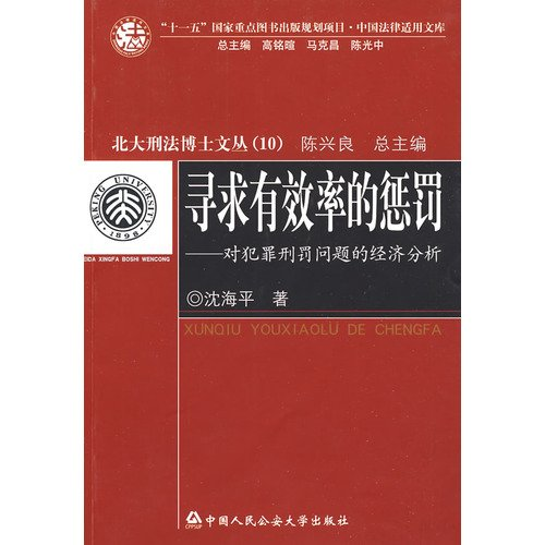9787811394221: seek efficient punishment: the issue of the Economic Analysis of Criminal Punishment (Paperback)