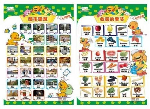 9787894661241: Hello Teddy Bilingual Posters (English and Chinese Edition)