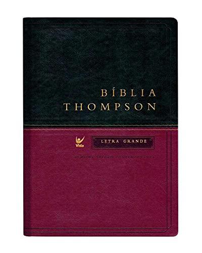 9788000003337: Bíblia Thompson Aec Letra Grande - Capa Verde e Vinho (Em Portuguese do Brasil)