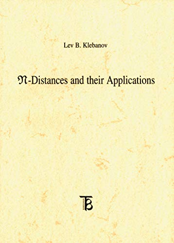 N-distances and Their Applications Format: Paperback: Lev B. Klebanov
