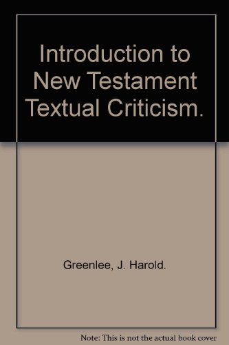 9788028309862: Introduction to New Testament Textual Criticism.
