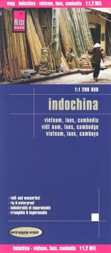 9788030427110: Vietnam, Laos, Cambodia (Indochina) 1:1,200,000 Travel Map, waterproof, GPS-compatible, REISE, 2013 edition