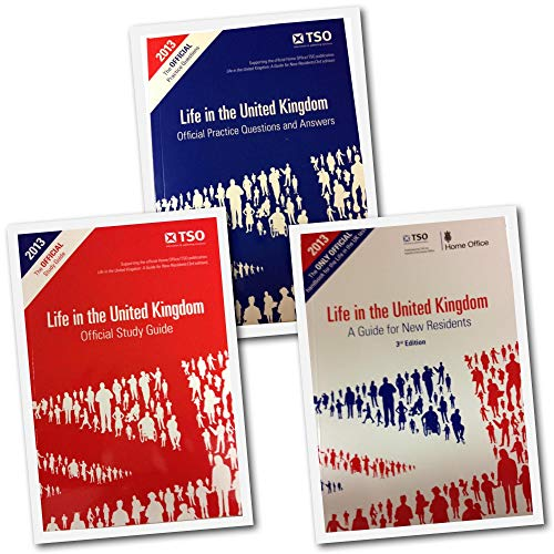 9788033654292: Life in the United Kingdom Citizenship Test 2013 3rd Edition 3 Books Complete Collection (Guide for New Residents, Official Study Guide, Q&As)