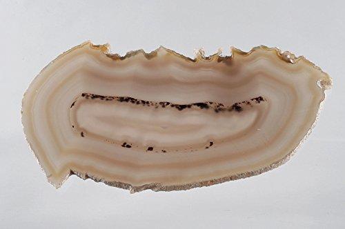 9788040612100: Exquisita naturales ágata de Brasil Mineral Geode Slice, decorativo Home Decor, ornamental Geode, 18x11x0.5