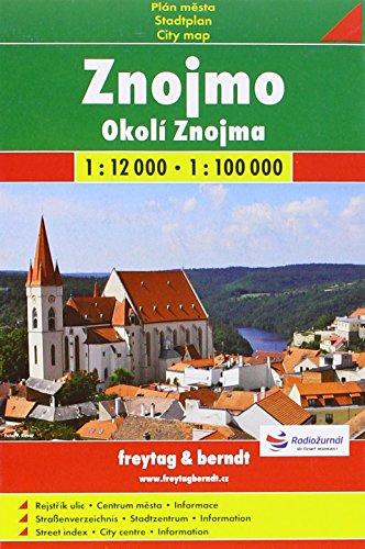Znojmo 1:12.000: Shocart Stadtplan
