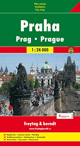 9788072240937: Prague (Praha) 1:24,000 Street Map (Czech Republic)