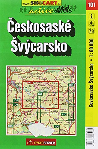 9788072245055: Czech Switzerland - Ceskosaske Svycarsko (Czech Republic) 1:60,000 Cycling Map