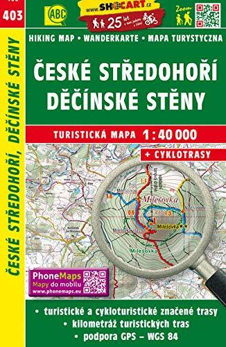 Wanderkarte Tschechien Ceske stredohori, Decisnke steny 1
