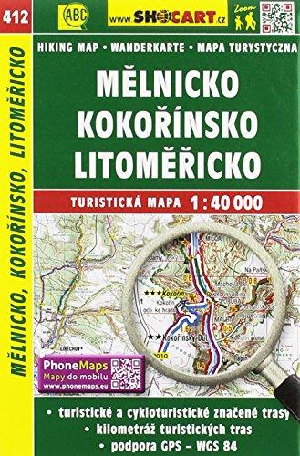 Wanderkarte Tschechien Melnicko, Kokorinsko, Litomericko 1 :