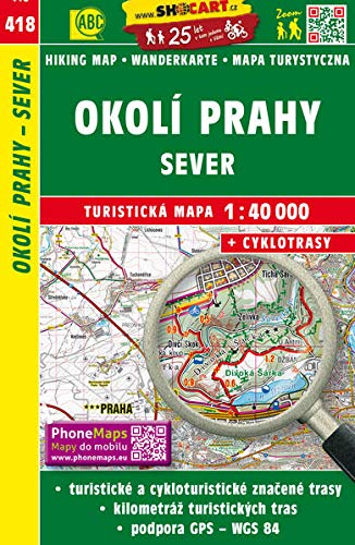 Wanderkarte Tschechien Okoli Prahy - sever 1
