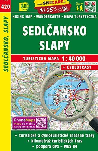 Wanderkarte Tschechien Sedlcansko, Slapy 1 : 40