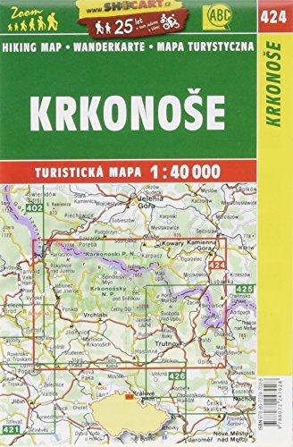 Wanderkarte Tschechien Krkonose: Turisticke Mapy Cesko