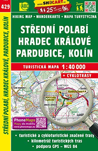 Wanderkarte Tschechien Stredni Polabi 1 : 40