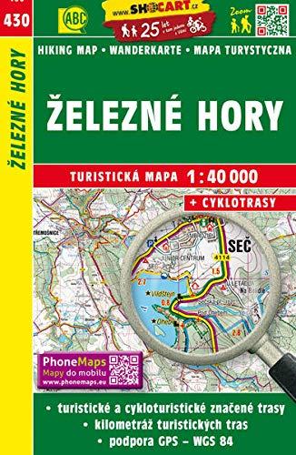 Wanderkarte Tschechien Zelezny hory 1 : 40