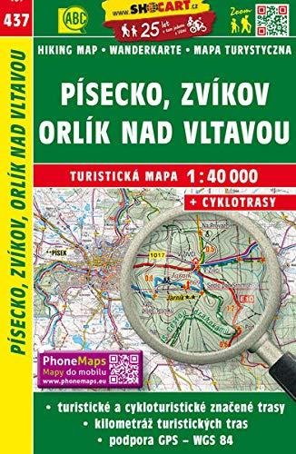 Wanderkarte Tschechien Pisecko, Zvikov 1 : 40