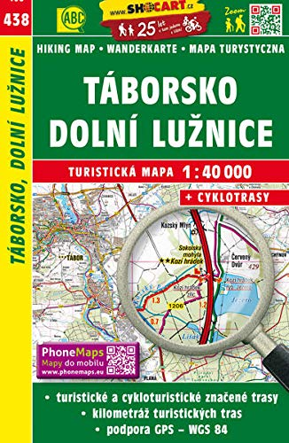 Wanderkarte Tschechien Taborsko, Dolni Luznice 1 :