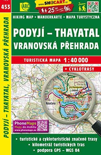Wanderkarte Tschechien Podyji - Thayatal, Vranovsko prehrada