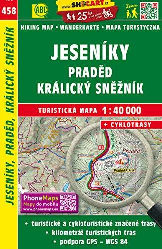 Jeseniky, Praded, Kralicky Sneznik: Turisticke Mapy Cesko 1:40.000