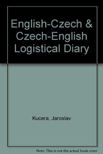 9788072250059: English-Czech & Czech-English Logistical Diary