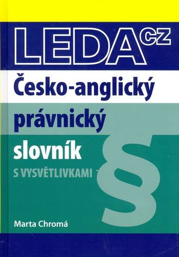 9788073352493: Czech-English Law Dictionary (English and Czech Edition)