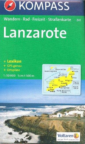 9788074321863: Lanzarote 1:50,000 Contoured Hiking Map, GPS-precise KOMPASS, 2012 edition