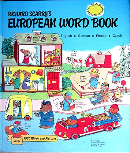 9788085277739: Richard Scarry's European Word Book (English, German, French & Czech)