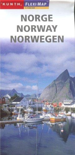 9788087112342: Norway 1:1,000,000 Travel Map, laminated MAGNUM