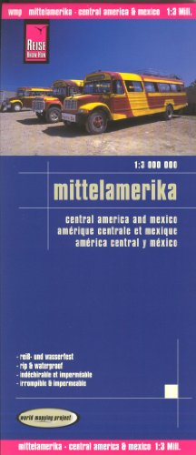 9788087356395: Central America & Mexico 1:3,000,000 Travel Map, waterproof, GPS-compatible, REISE