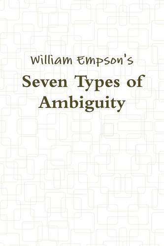 9788087888872: Seven Types of Ambiguity