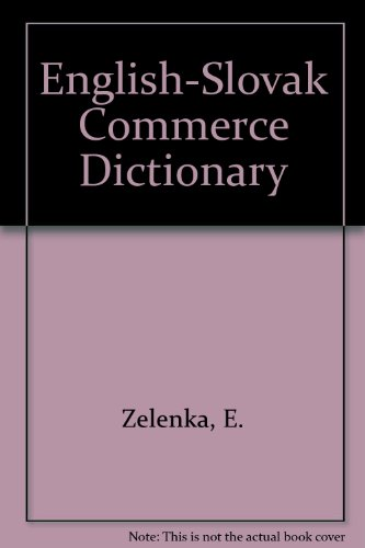 English-Slovak Commerce Dictionary