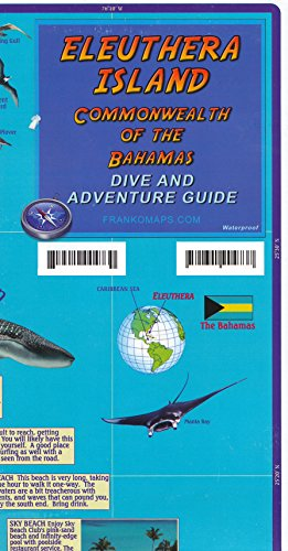 9788089795215: Eleuthera Island (Bahamas) Visitor's Map & Guide FRANKO, 2013 edition