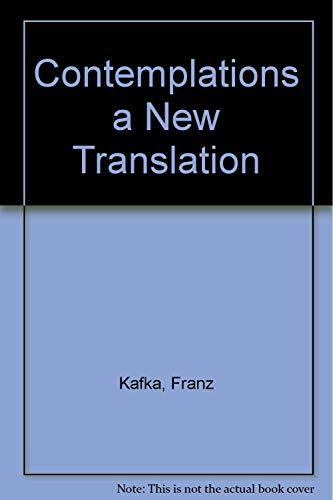 Contemplation: Kafka, Franz