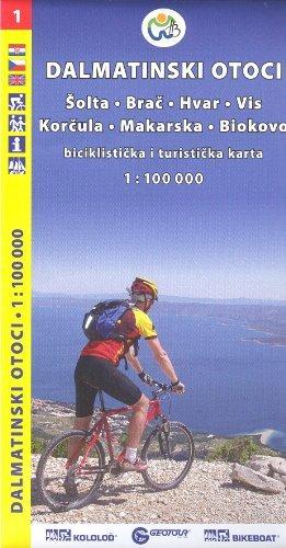 9788090500006: Croatia Coast - Adriatic Islands North 1:100,000 Cycling Map, 2012 edition GEOTOUR