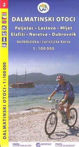 9788090501102: Croatia Coast - Adriatic Islands South 1:100,000 Cycling Map, GEOTOUR