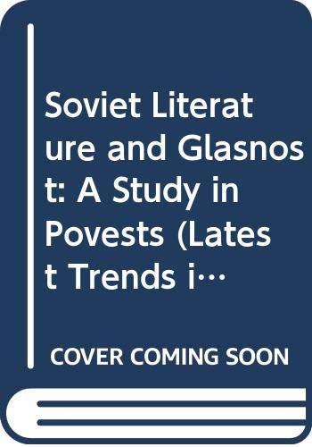 9788120202689: Soviet Literature & Glastnost Vol. 1