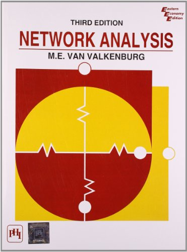 Network Analysis 9788120301566 Description: A treatment of topics in the field of electric networks (or circuits) which are considered as a foundation in electrical engineering and occur at either the beginning or intermediate level. Contains material on the Nyquist criterion. Gives Tellegan's theorem, and the Gauss elimination method. Includes expanded coverage of Thevenin's and Norton's theorems, the Routh-Hurwitz criterion, and Fourier transforms. Problems and suggested digital computer exercises at the end of each chapter. Solutions to selected problems given in the appendix. Contents: Development of the Circuit Concept. Conventions for Describing Networks. Network Equations. First-order Differential Equations. Initial Conditions in Networks. The Laplace Transformation. Transforms of Other Signal Wave-forms. Impedance Functions and Network Theorems. Network Functions; Poles and Zeros. Two-Port Parameters. Sinusoidal Steady-State Analysis. Frequency Response Plots. Input Power, Power Transfer, and Insertion Loss. Fourier Series and Signal Spectra. Fourier Integral and Continuous Spectra. Appendices.