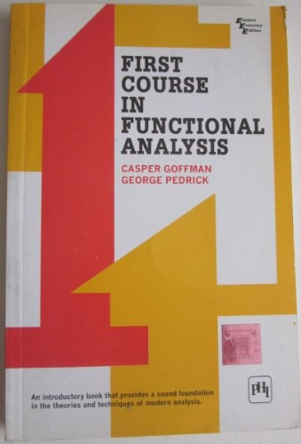 9788120302594: First course in functional analysis