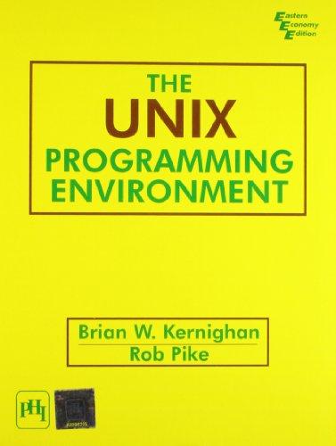 The Unix Programming Environment: PIKE ROB KERNIGHAN