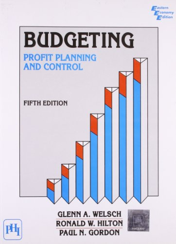 9788120306721: Budgeting: Profit Planning and Control