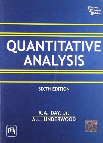 Quantitative Analysis, Sixth Edition: A.L. Underwood,R.A. Day,