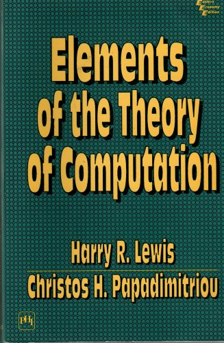 9788120310162: Elements of the Theory of Computation
