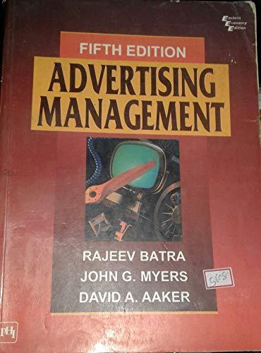 9788120312197: Advertising Management