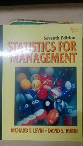 Statistics For Management: LEVIN RICHARD I