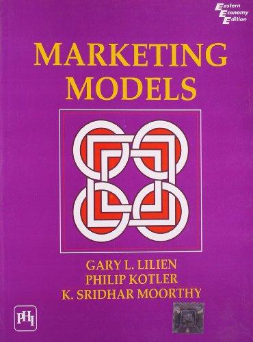 9788120314757: Marketing Models