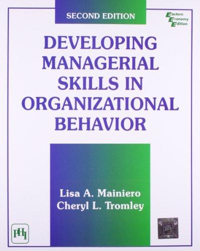 9788120314856: Developing Managerial Skills in Organizational Behavior