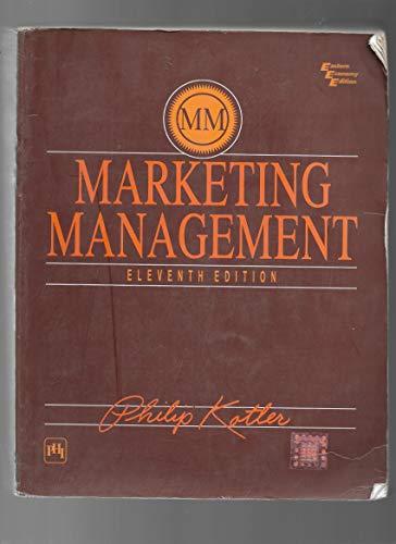 9788120320833: Title: Marketing Management